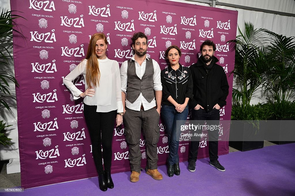 Spanish actresses Maria Castro (L) and Irene Montala (2nd R) attend 'Cirque Du Soleil' Kooza 2013 premiere on March 1, 2013 in Madrid, Spain.