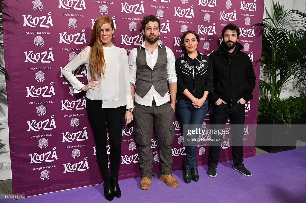 Spanish actresses Maria Castro (L) and Irene Montala (2ndR) attends 'Cirque Du Soleil' Kooza 2013 premiere on March 1, 2013 in Madrid, Spain.