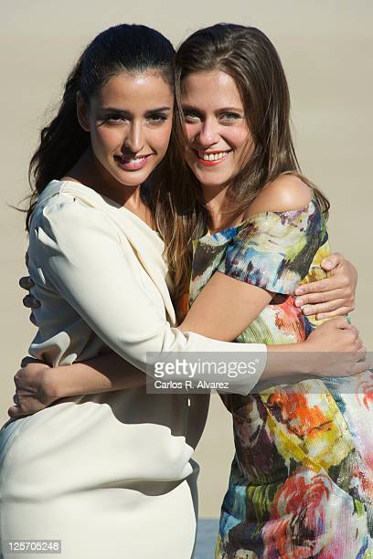 Spanish actresses Maria Leon and Inma Cuesta attend 'La Voz Dormida' photocall at the Kursaal Palace during the 59th San Sebastian International Film...