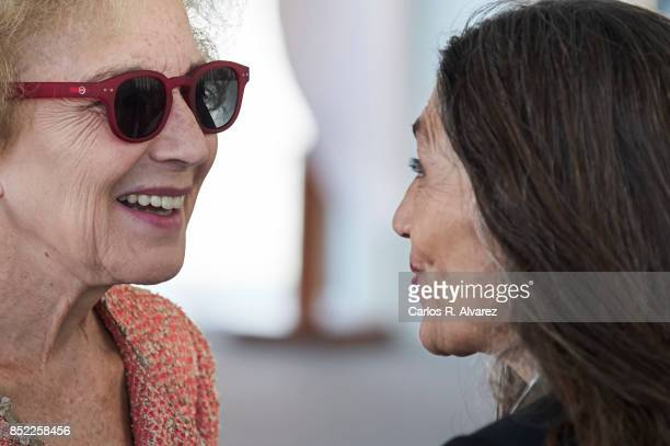 Spanish actresses Marisa Paredes and Angela Molina attend the National Cinema Award during the 65th San Sebastian International Film Festival at...