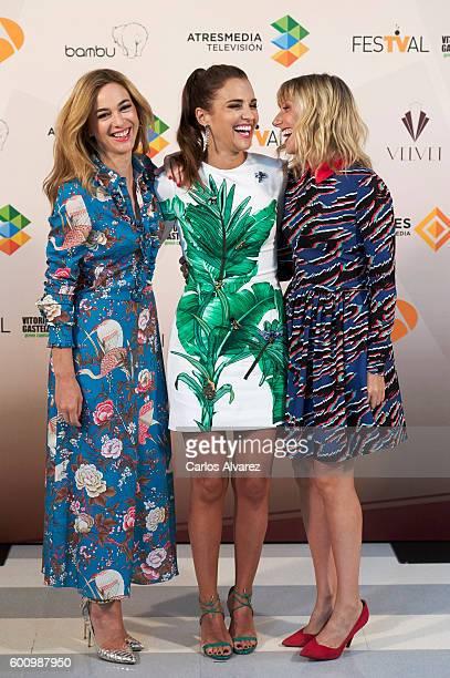 Spanish actresses Marta Hazas Paula Echevarria and Cecilia Freire attend 'Velvet' photocall at Palacio de Congresos during FesTVal 2016 Day 5 on...