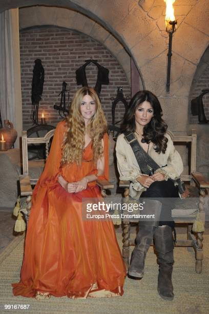 Spanish actresses Monica Cruz and Manuela Velasco join 'Aguila Roja' tv series on May 13 2010 in Madrid Spain