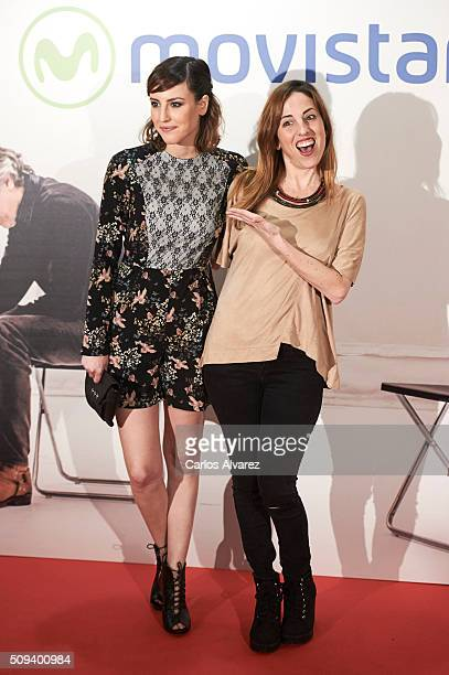 Spanish actresses Natalia de Molina and Celia de Molina attend the 'Que fue de Jorge Sanz' premiere at the Proyecciones cinema on February 10 2016 in...