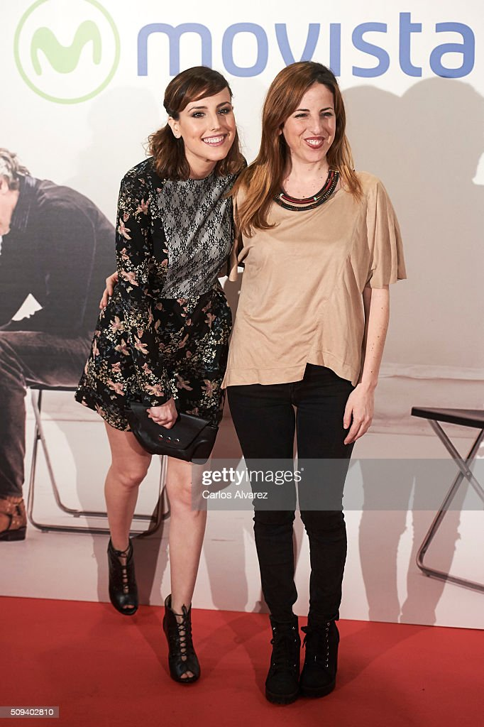 Spanish actresses <a gi-track='captionPersonalityLinkClicked' href=/galleries/search?phrase=Natalia+de+Molina&family=editorial&specificpeople=11184153 ng-click='$event.stopPropagation()'>Natalia de Molina</a> (L) and Celia de Molina (R) attend the 'Que fue de Jorge Sanz' premiere at the Proyecciones cinema on February 10, 2016 in Madrid, Spain.