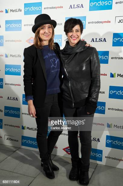 Spanish actresses Nathalie Poza and Luz Valdenebro attend 'Entradas Ymas' presentation at the Lara Theater on February 13 2017 in Madrid Spain