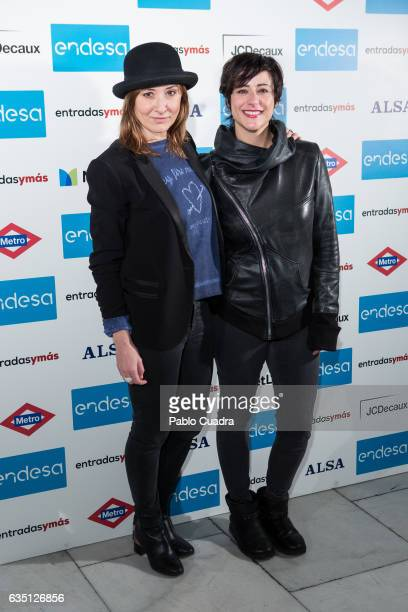 Spanish actresses Nathalie Poza and Luz Valdenebro attend the 'Entradas Ymas' presentation at Lara Theater on February 13 2017 in Madrid Spain