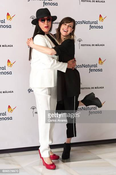 Spanish actresses Rosy de Palma and Natalia de Molina attend the 'En Tu Cabeza' photocall on day 6 of the 20th Malaga Film Festival on March 22 2017...