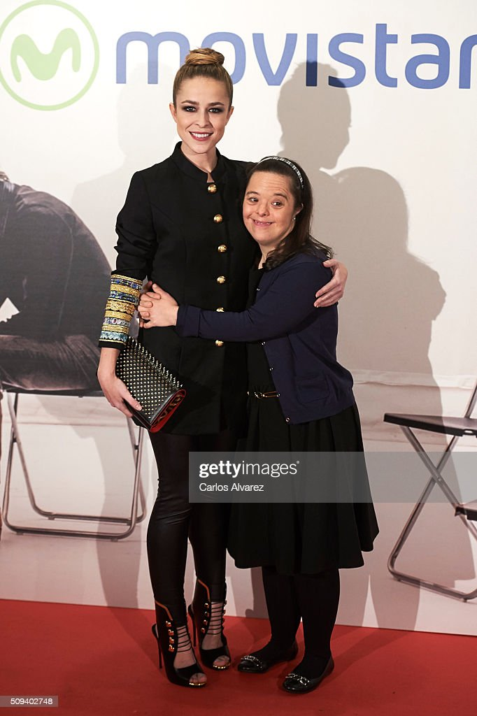 Spanish actresses <a gi-track='captionPersonalityLinkClicked' href=/galleries/search?phrase=Silvia+Abascal&family=editorial&specificpeople=605766 ng-click='$event.stopPropagation()'>Silvia Abascal</a> (L) and Natalia Abascal (R) attend the 'Que fue de Jorge Sanz' premiere at the Proyecciones cinema on February 10, 2016 in Madrid, Spain.