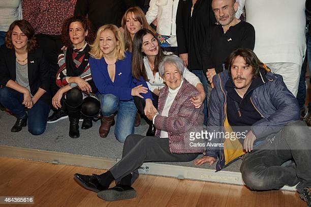 Spanish actresses Teresa Hurtado de Ory Carmen Machi Ainhoa Santamaria Ana Fernandez Asuncion Balaguer and actor Sergio PerisMencheta attend 'Union...