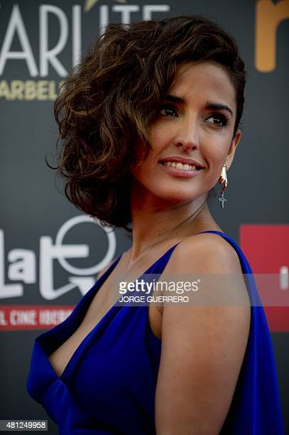 Spanish actriz Inma Cuesta poses during a photocall of the the second edition of the IberoAmerican cinema Platino awards in Marbella on July 18 2015...