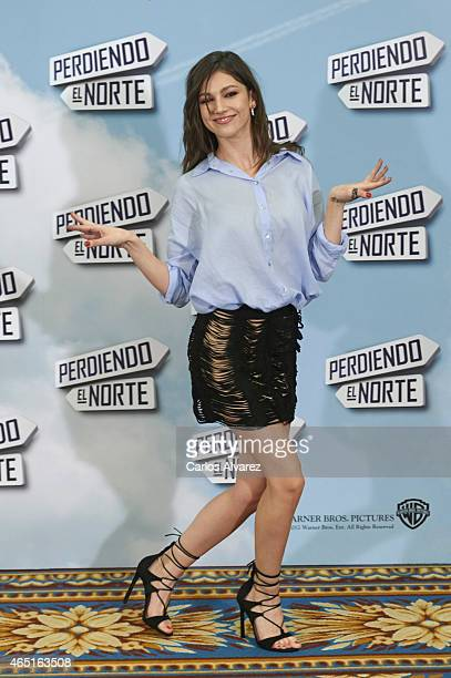 Spanish actrtess Ursula Corbero attends the 'Perdiendo el Norte' photocall at the Intercontinental Hotel on March 3 2015 in Madrid Spain