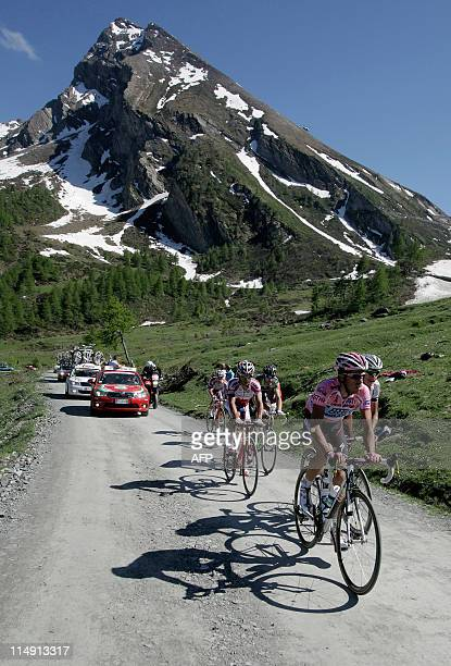 Spanish Alberto Contador climbs the Colle delle Finestre in stage 20 of the 94th Tour of Italy run from Verbania to Sestriere on May 28 2011 AFP...