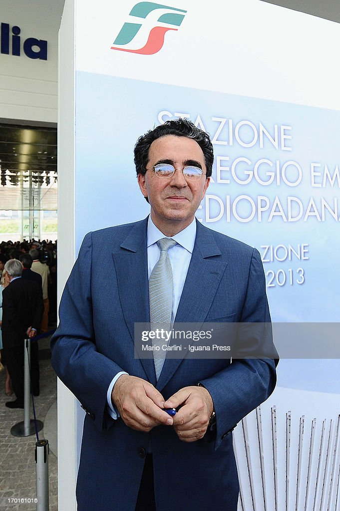 Spanish architect Santiago Calatrava attends the unveil of the Mediopadana High Speed Train Station on June 8, 2013 in Bologna, Italy. Composed of 457 steel frames it is the only stop on the high-speed line between Bologna and Milan