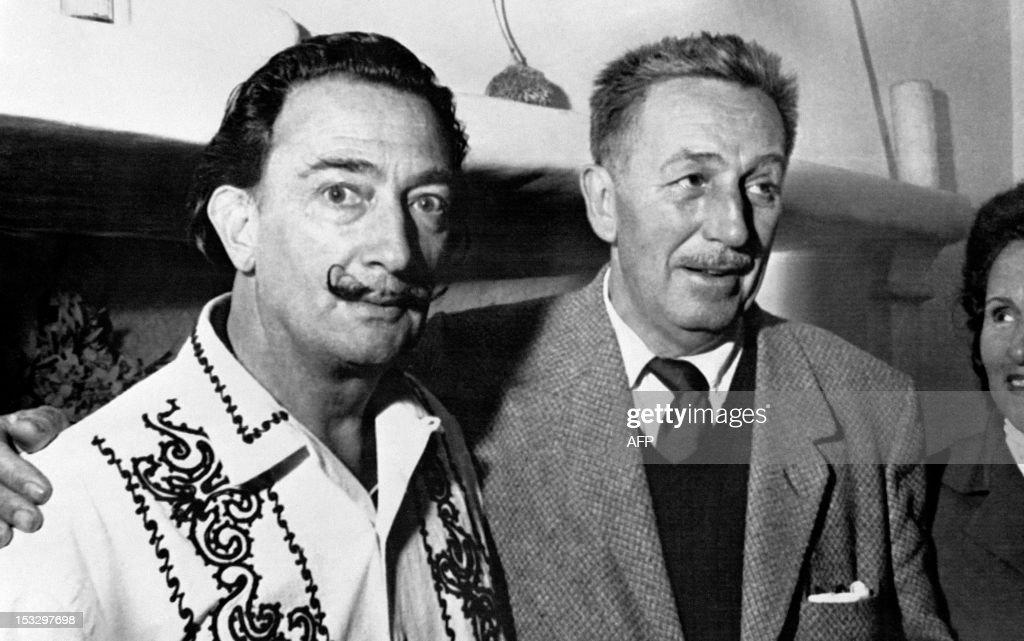 Spanish artist Salvador Dali meets Walt Disney on May 17 in Barcelona to create the Opera 'Scipion in Spain' of Carlotti for the La Fenica theater of...