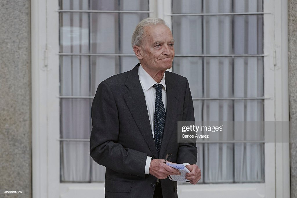 Spanish author Luis Goytisolo attends the 'National Culture' awards at the El Pardo Palace on February 16, 2015 in Madrid, Spain.