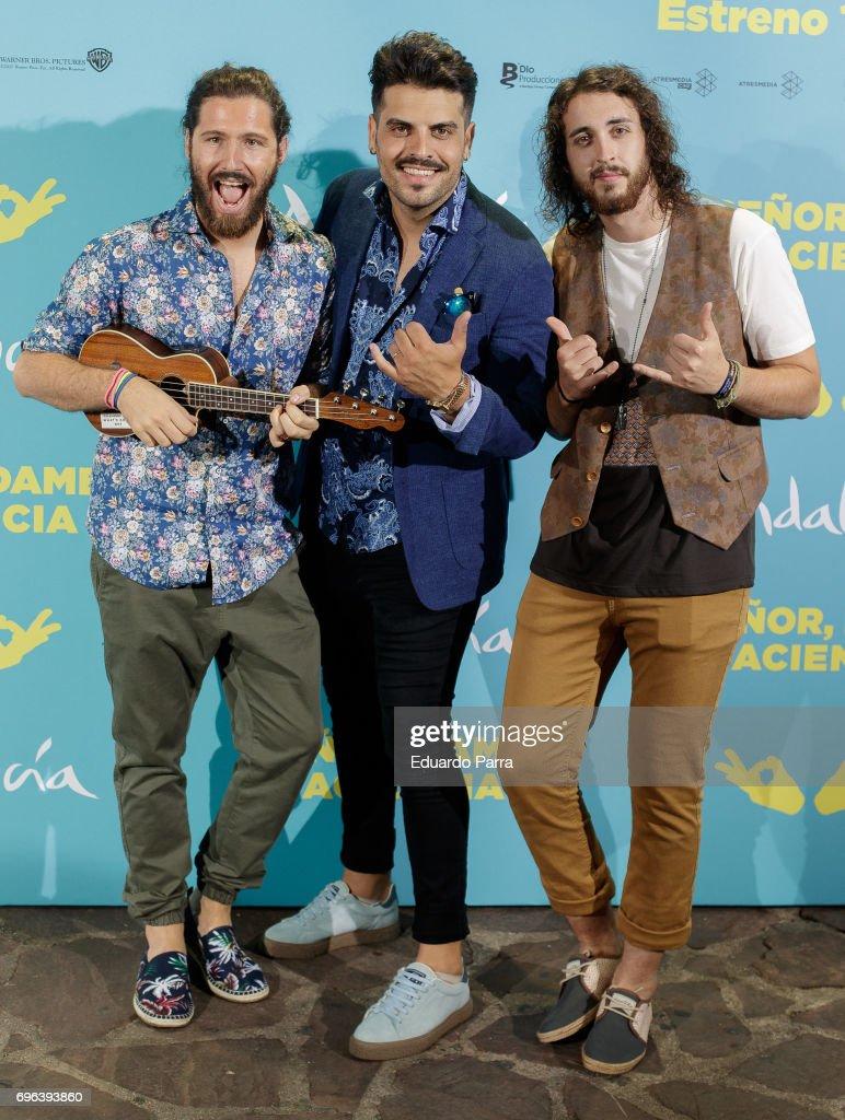 ¿Cuánto miden Bombai? - grupo de música Spanish-band-bombai-attends-the-senor-dame-paciencia-premiere-at-on-picture-id696393860