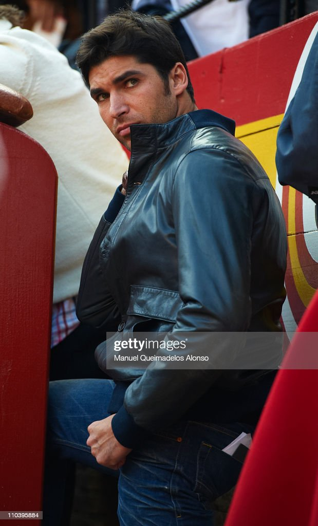 Spanish bullfighter Cayetano Rivera attends a bullfight at the Plaza Valencia bullring on March 17 2011 in Valencia Spain