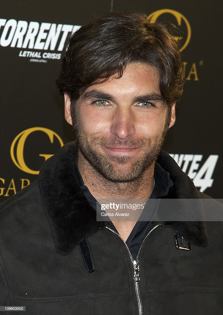 Spanish bullfighter Cayetano Rivera attends 'Torrente 4' premiere at the Capitol cinema on March 9, 2011 in Madrid, Spain.