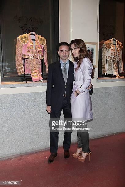Spanish bullfighter Enrique Ponce and Paloma Cuevas present 'Del Ruedo a la Pasarela' exhibition on May 29 2014 in Madrid Spain