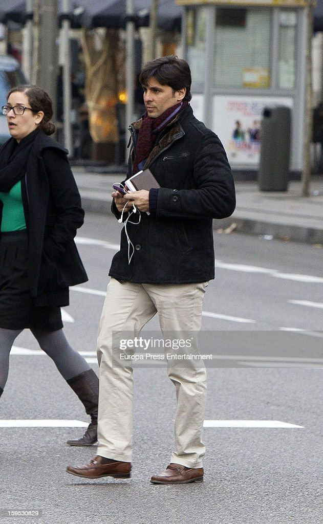 Spanish bullfighter Fran Rivera is seen leaving Cartier store on January 11, 2013 in Madrid, Spain.