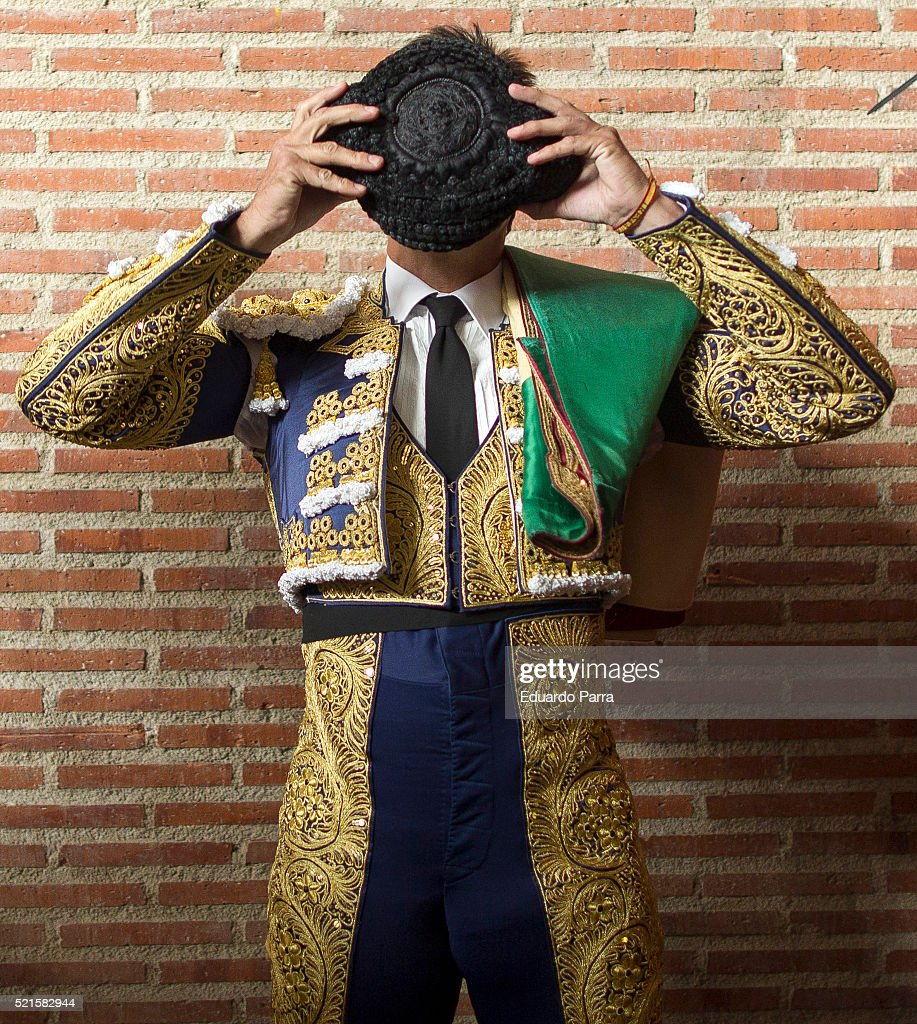 Spanish bullfighter Fran Rivera performs during a bullfight at La Cubierta on April 16 2016 in Leganes Spain