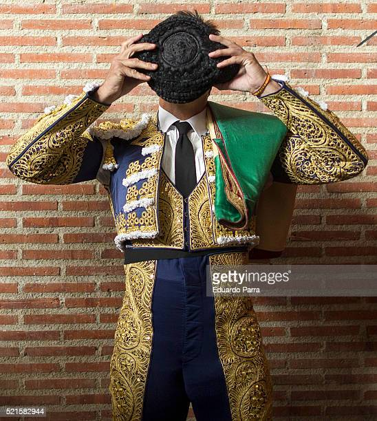 Spanish bullfighter Fran Rivera performs during a bullfight at La Cubierta on April 16 2016 in Leganes Spain
