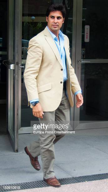 Spanish bullfighter Francisco Rivera attends the Court on October 10 2012 in Madrid Spain Francisco Rivera and ex wife Eugenia Martinez de Irujo are...