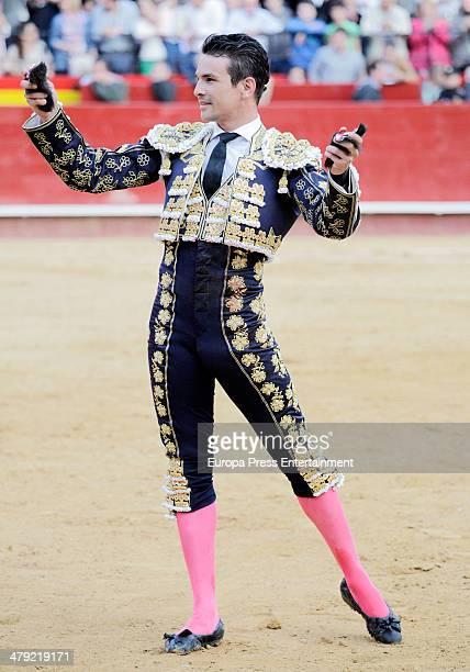 Spanish bullfighter Jose Maria Manzanares performs during Fallas Festival on March 15 2014 in Valencia Spain