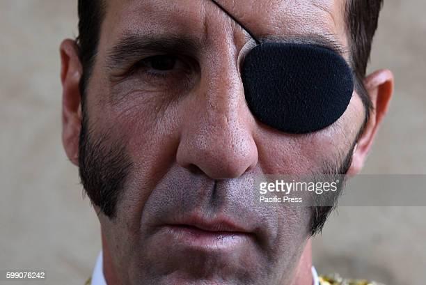 TOROS ALMAZáN SORIA SPAIN Spanish bullfighter Juan Jóse Padilla 43 yearsold pictured before of a bullfight in the La Bajada de Jesús festival in...