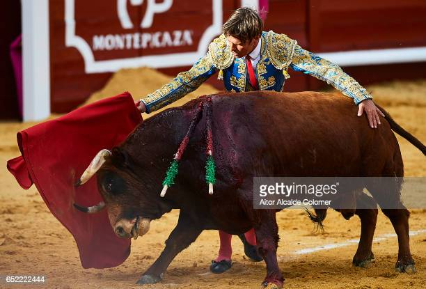 Spanish bullfighter Manuel Diaz 'El Cordobes' in in action during the Bullfight between Julio Benitez and Manuel Diaz 'El Cordobes' on March 11 2017...