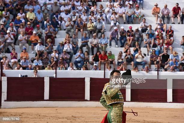 TOROS ALMAZáN SORIA SPAIN Spanish bullfighter Manuel Jesús Cid 42 yearsold pictured during a bullfight at the La Bajada de Jesús festival in Almazán...