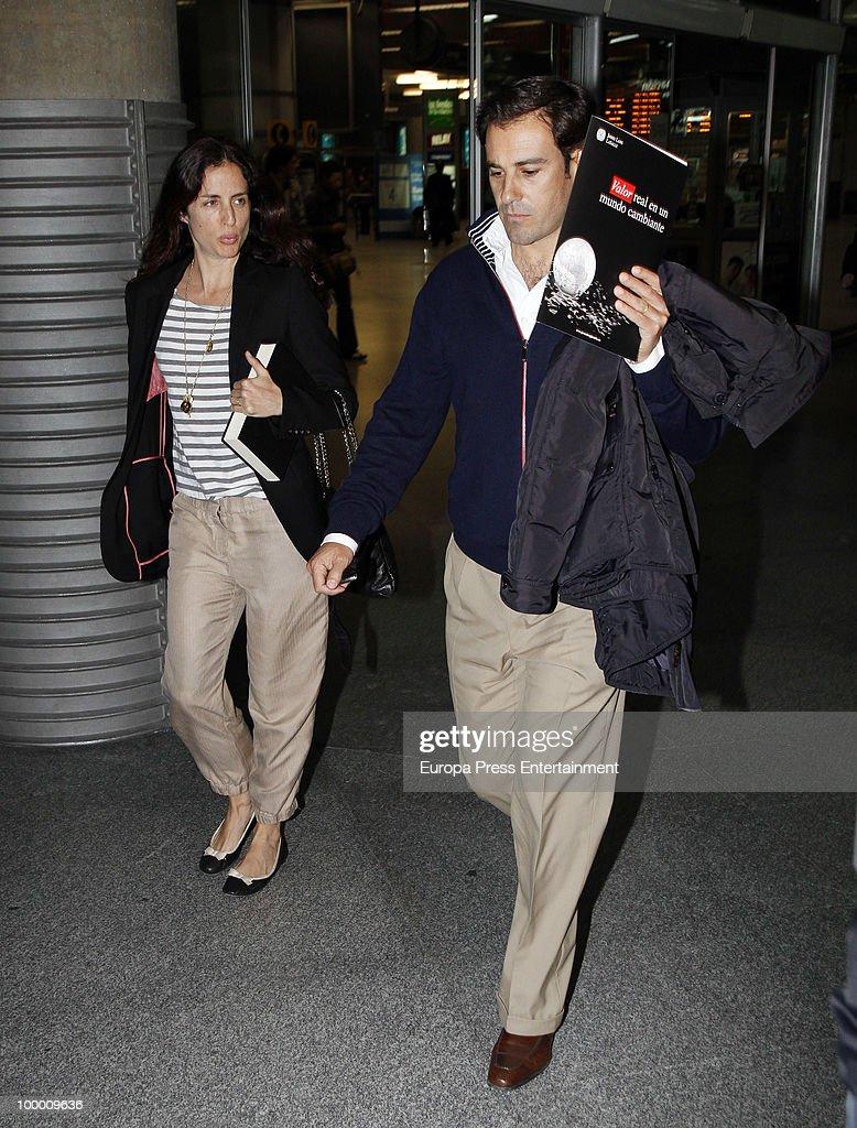 Spanish bullfighter Miguel Baez 'Litri' and Carolina Adriana Herrera are seen sighting on May 20, 2010 in Madrid, Spain.