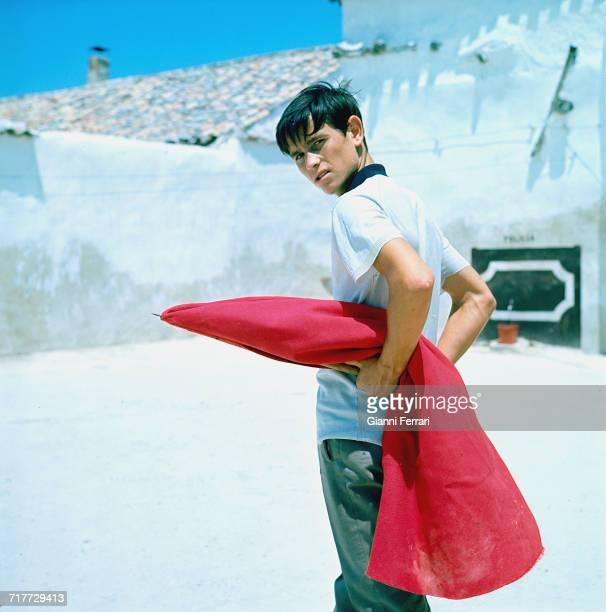 Spanish bullfighter Sebastián Palomo Martínez known professionally as Palomo Linares at a training session in Madrid 1967