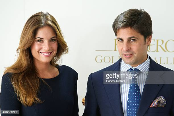 Spanish bullfigther Francisco Rivera and wife Loudes Montes present the new 'Ferrero' chocolates at the ThyssenBornemisza Museum on October 8 2014 in...