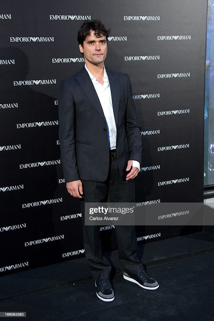 Spanish bullfigther Jose Antonio Abellan attends the Emporio Armani Boutique opening on April 8, 2013 in Madrid, Spain.
