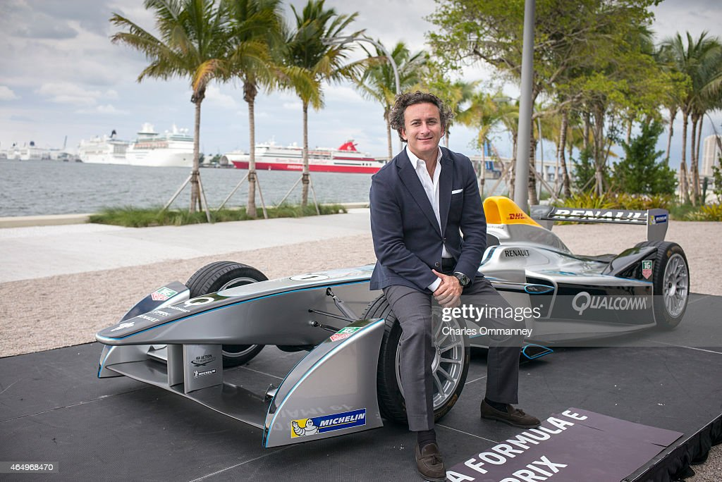 Spanish businessman and sponsor of Formula E (electric) racing cars, <a gi-track='captionPersonalityLinkClicked' href=/galleries/search?phrase=Alejandro+Agag&family=editorial&specificpeople=2910760 ng-click='$event.stopPropagation()'>Alejandro Agag</a>, is photographed for Bilanz Magazine on October 20, 2014, in Miami, Florida. Pictured: <a gi-track='captionPersonalityLinkClicked' href=/galleries/search?phrase=Alejandro+Agag&family=editorial&specificpeople=2910760 ng-click='$event.stopPropagation()'>Alejandro Agag</a> announces the FIA Formula E Championship, the worlds first fully-electric racing series, in Miami, Florida, on October 20th, 2014.