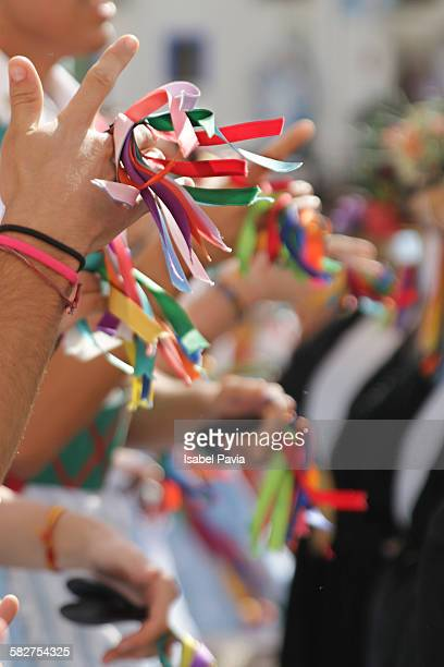 Spanish castanets with colorful bows