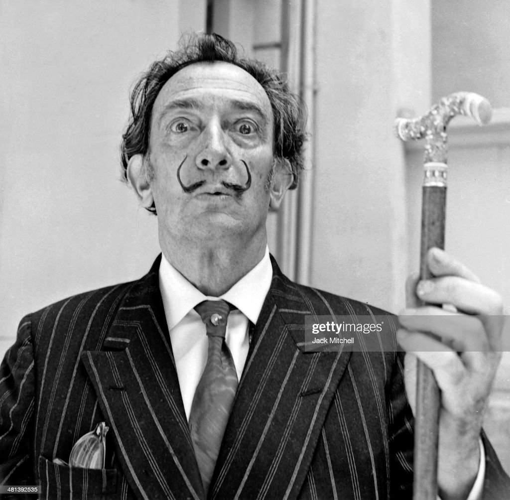 Spanish Catalan surrealist painter Salvador Dali photographed in Barcelona Spain on May 24, 1966.