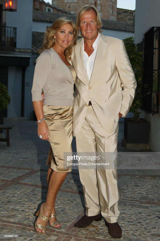 Spanish celebrity Norma Duval and her boyfriend Matthias Kuehn are seen sighting on July 20 2010 in Mallorca Spain