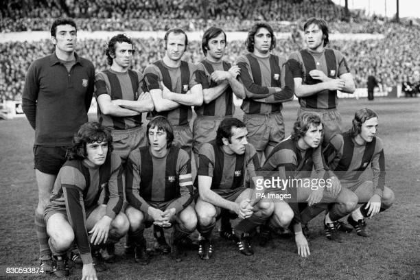 Spanish champions Barcelona including Johan Cruyff before the European Cup semifinal first leg against Leeds United st Elland rd