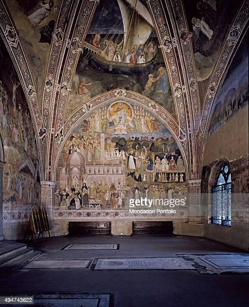Spanish Chapel by Andrea di Bonaiuto 13651367 14th Century fresco Italy Tuscany Florence Church of Santa Maria Novella Whole artwork view Overview of...