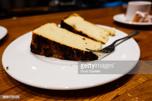 Spanish Cheese Cake From San Sebastian Stock Photo Thinkstock