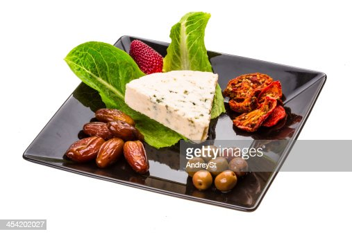 Spanish cheese with mould : Stock Photo