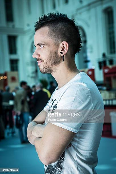 Spanish chef David Munoz poses for a portrait at 'Palacio de Cristal' on October 22 2015 in Madrid Spain