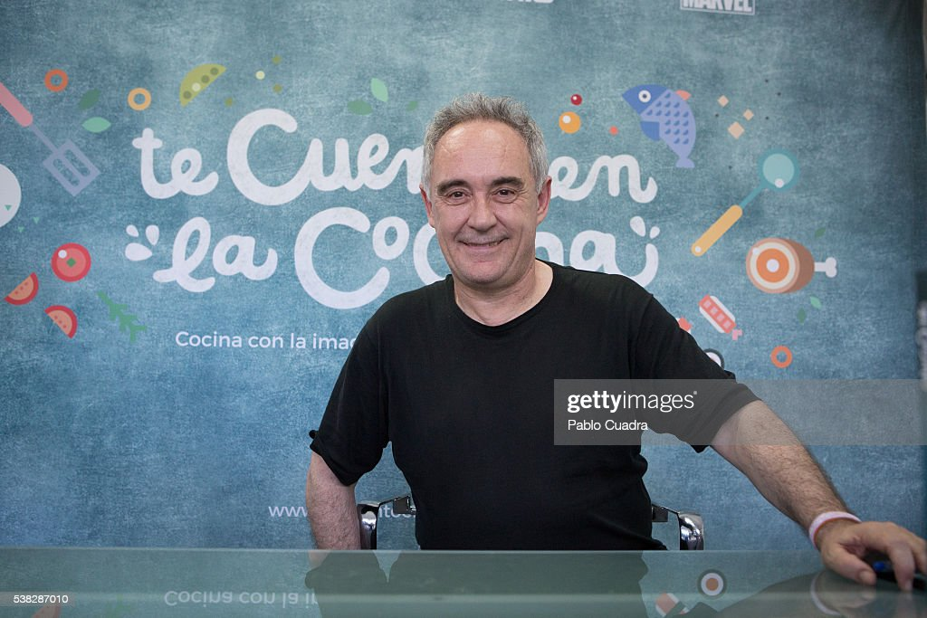 Spanish chef Ferran Adria attends Book Fair Madrid 2016 at Retiro Park on June 5, 2016 in Madrid, Spain.