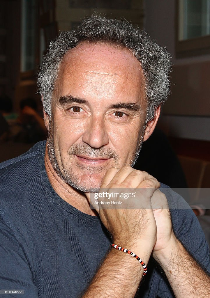 Spanish chef Ferran Adria attends the El Bulli - Cooking in progress photocall at Hakesche Hoefe cinema on August 15, 2011 in Berlin, Germany.