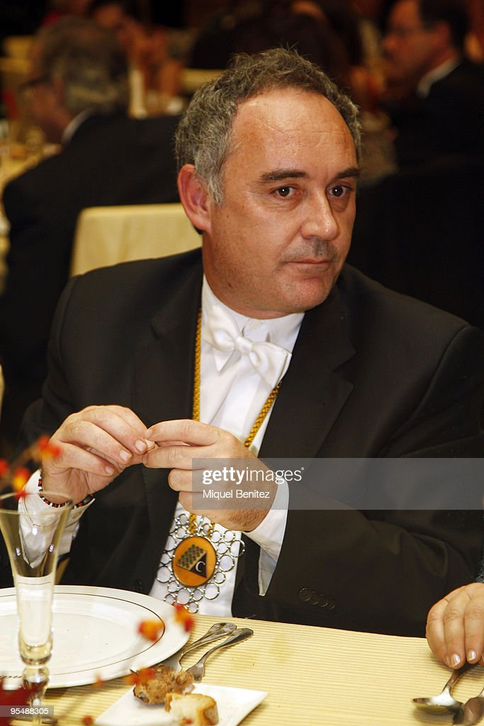 Spanish Chef Ferran Adria attends the XVIII Autumn Investiture of the Spanish Chef, Ferran Adria, as a Special Honoured Member of Cava Sant Sadurní Assotiation on October 31, 2009 in Barcelona, Spain.