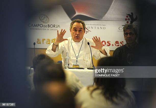 Spanish chef Ferran Adria gives a press conference at Madrid Fusion the annual international culinary conference focussing on the cuttingedge in...