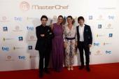 Spanish Chef Pepe Rodriguez Spanish TV Host Eva Gonzalez Spanish Chef Samantha Vallejo Najera and Spanish Chef Jordi Cruz attend the 'MasterChef'...