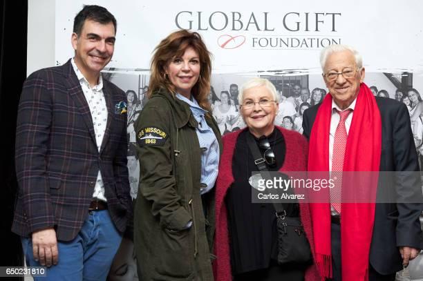 Spanish chef Ramon Freixa Belinda Washington Angela Navarro and Angel Garcia 'Padre Angel' attend the 'Global Gift Gala' Madrid 2017 presentation at...